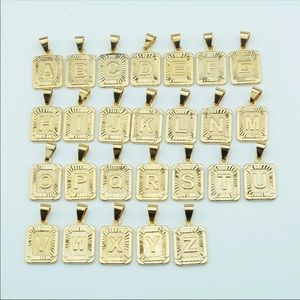 Other - New real 18k gold plated letter necklace
